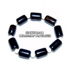 San hô đen đốt trúc mix đá sà cừ 16 hạt cỡ 10-5 ly