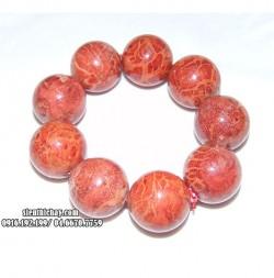 Vòng tay san hô đỏ tự nhiên 9 hạt cỡ 22 ly
