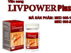 Viên nang LIVPOWER PLUS - Hộp 60 viên- giải độc gan, tăng cường chức năng gan