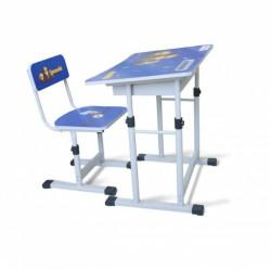 Bộ bàn ghế học sinh BHS-13-06 màu xanh dành cho bé nam