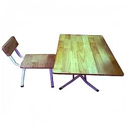 Ghế mẫu giáo gỗ thông chân sắt GMGCS