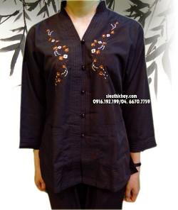 Bộ trang phục đi lễ chùa CỔ ĐỨNG THÊU HOA