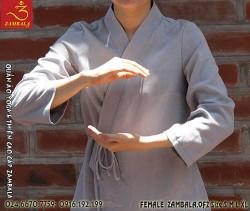 Quần áo đi chùa, tập yoga, khí công, võ, dưỡng sinh cho nữ - cài chéo võ