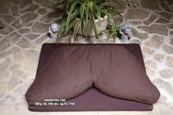 Bồ đoàn - thảm - gối - đệm ngồi thiền chữ V ruột vỏ đậu xanh